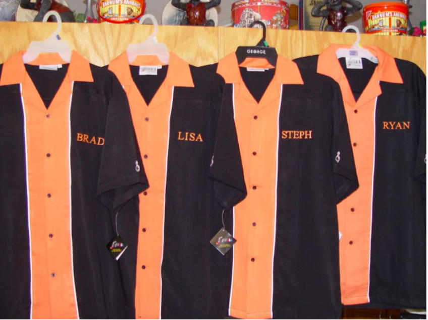 Custom Embroidered Bowling Shirts